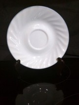 Corelle Corning PINK TRIO White Swirl Saucer Plate w/Light Pastel Blue T... - $1.97