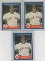 1986 Fleer Update  #U-10 Don Baylor Red Sox Lot of 3 - $1.62