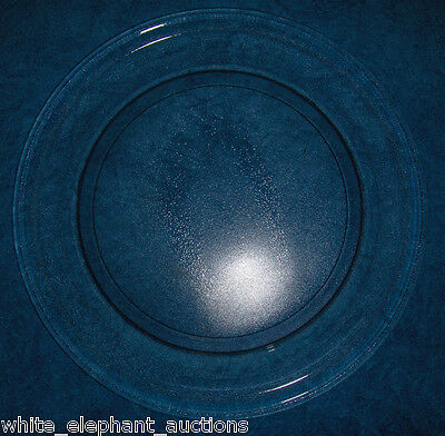 "Primary image for GE WB49X10135 Microwave Glass Turntable Plate / Tray 14 1/8"" Used Clean 9 1/4"""