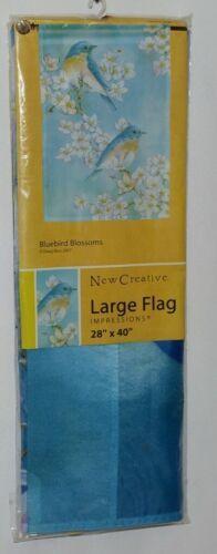 New Creative 25379 Impressions Bluebird Blossoms Indoor Outdoor Garden Flag
