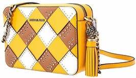 Michael Kors Zip Top Camera Cross-Body Bag- Yellow/Multi - $95.99