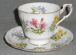 Paragon Bone China - English Flowers Cup/Saucer Set Gold Trim - $29.69