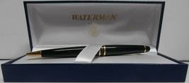 Waterman Expert Black/Gold Trim Ballpoint Pen, Medium Point, Black Ink - $79.48