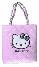 NEW Sanrio Hello Kitty Pink Evening Purse CoCo Quilted Face Patent Leath... - $14.96