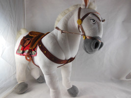 "Disney Store MAXIMUS Plush White Horse from Tangled 14"" Poseable Legs Clean - $13.85"