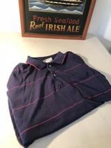American Spirit Men's Shirt Size XL Short Sleeve Polo Golf Shirt Blue-Red - $9.80