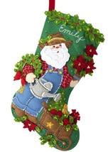 DIY Bucilla In the Garden Santa Jeans Christmas Holiday Felt Stocking Ki... - $39.95