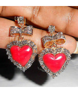 2.65Ctw Rose Cut Diamond Silver Latest Design Victorian Style Earrings I... - $257.60