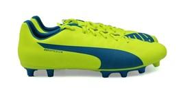 PUMA evoSPEED 5.4 FG Men's Soccer Cleats - Yellow/Blue/White - Size 13 - NEW - $47.51
