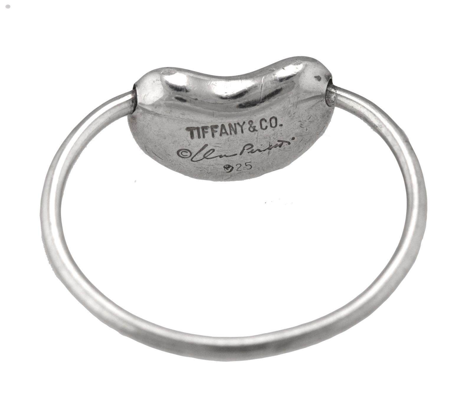 9d46593ff Authentic Tiffany & Co. 925 Sterling Silver Elsa Peretti Bean Ring Size:  4.50