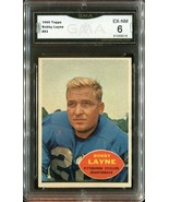 1960 Topps Football Bobby Layne #93 - Hall of Fame Steelers (GMA Graded ... - $29.69