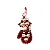 Family of Six 6 Mitten Personalized Christmas Tree Ornament gift present... - $10.88