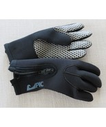 Vintage 1980s Black PIC Diving Scuba Gloves Size S Zip Closure Thick Glo... - $59.35