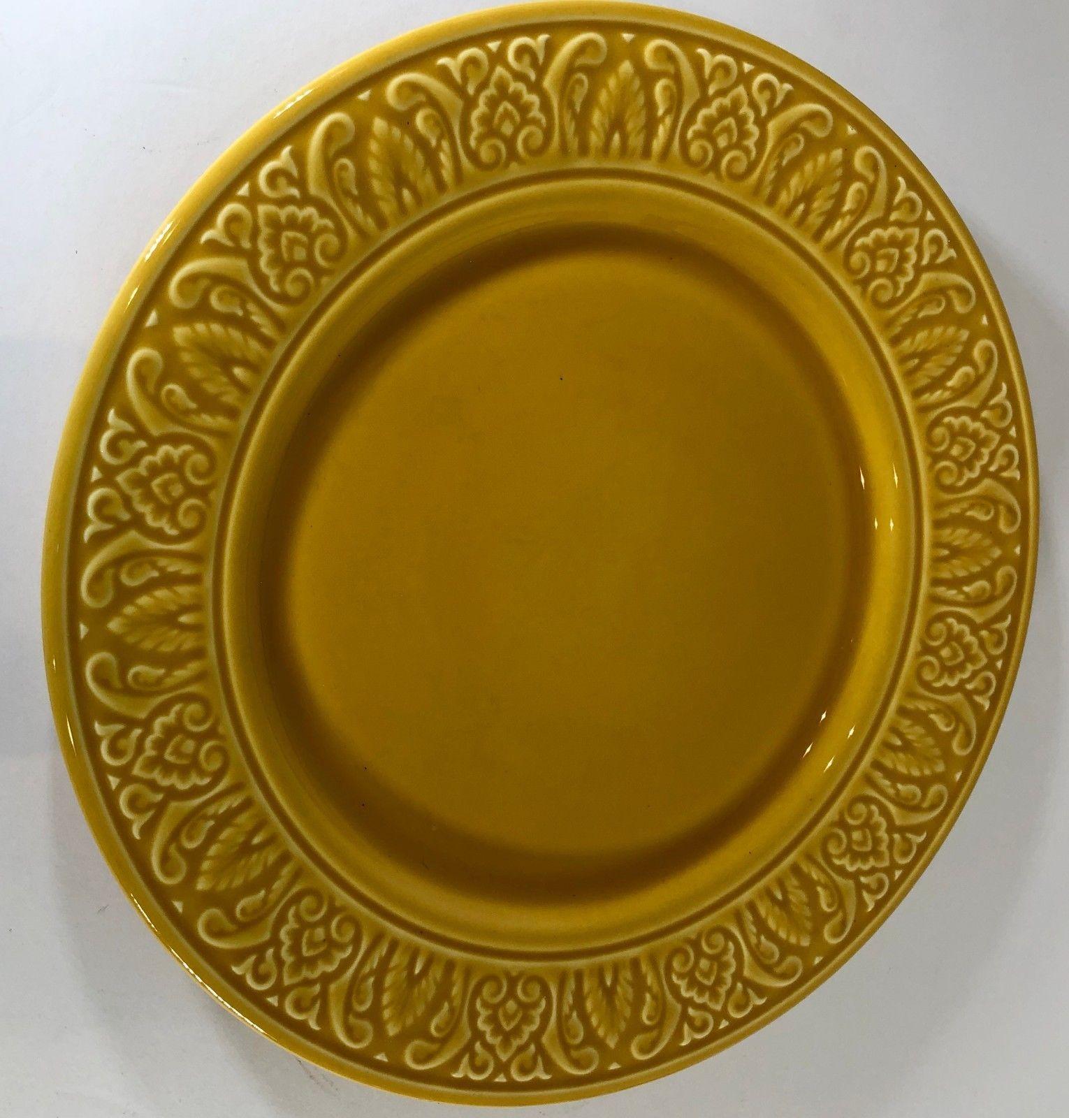 57 & World Market Amber Embossed Portugal Earthenware Dinnerware ...