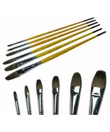 6-Sizes Wolf Hair Oil Painting Brush Pens Watercolor Paintbrushes Round ... - $13.82