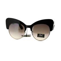 Womens Super Cateye Foxy Sunglasses Unique Bolded Thick Top Frame - $9.95