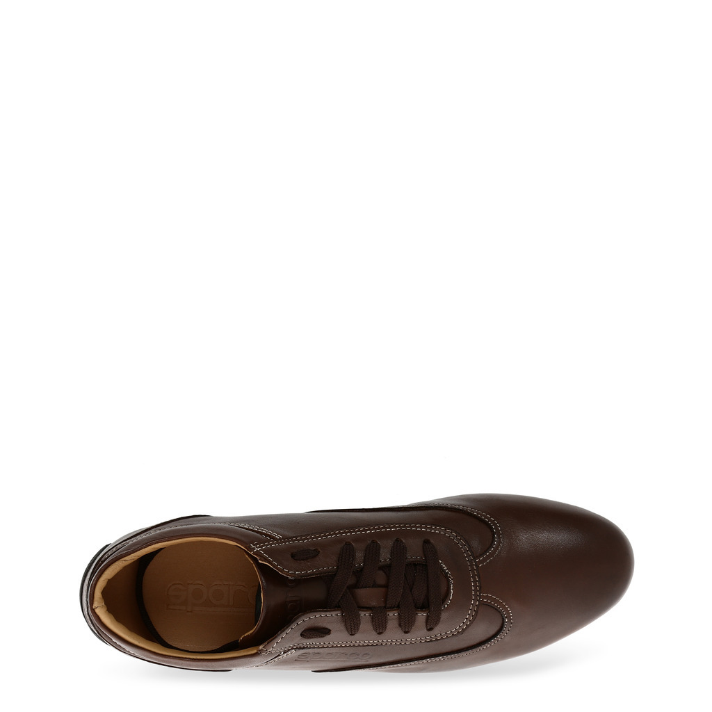 SPARCO Racing Mens Sneaker - Brown Leather - IMOLA