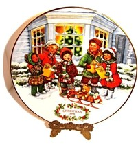 """Avon 1991""""Perfect Harmony"""" Porcelain Christmas Plate trimmed in 22K Gold - $22.00"""