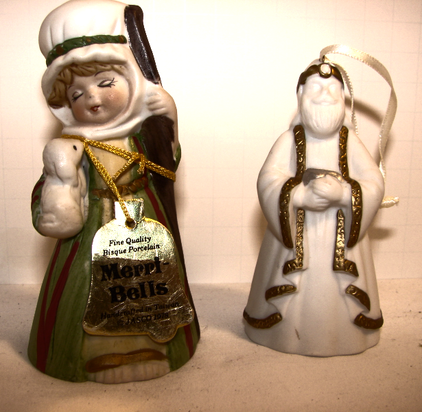 "Bell Collectors--1978 Bisque Porcelain Jasco ""Merri Bells""--1996 HallmarkThe"" Ma - $14.00"