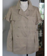 One Clothing Trench Coat Jacket Or Top Size 3X - $20.00