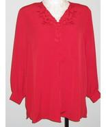 Jon Lawrence LTD  True Red Womans Blouse Size 20W - $22.00