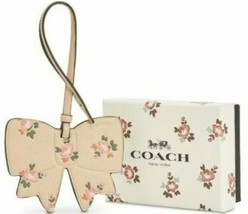 Coach NWT 27417B Beechwood Leather Bow Floral Bag Charm Key SRP $35 Gift... - $11.87