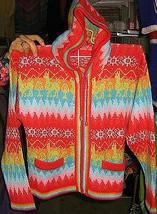 Colorful hooded Kids Sweater, Jumper made of  Alpaca wool  - $55.00