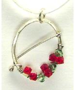 Swarovski Crystal & Argentium Sterling Silver Wreath Style Pendant Necklace - $18.99