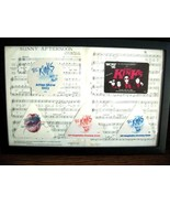 RARE!! THE KINKS FRAMED SHEET MUSIC + 5 AUTHENTIC BACKSTAGE PASSES!! - $75.00