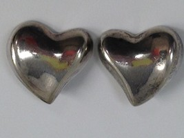 VINTAGE 925 MEXICO HEART STERLING SILVER EARRINGS - $25.73
