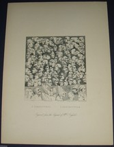 1860 Engraved Print 3 Characters & 4 Caricaturas by William Horgarth - $16.99