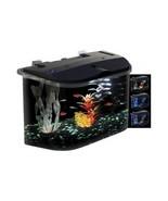 Aquarium Starter Kit Fish Tank 5 Gallon Goldfish LED Lights Desktop Wate... - $49.54