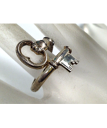 1 VINTAGE STERLING SILVER AVON SKELETON KEY RING S 8 OR 8.5 - $74.28