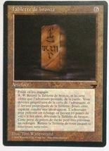 Magic The Gathering MTG French Renaissance Card Bronze Tablet - 1995 - $2.25
