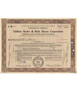 Vintage Engraved Stock Certificate 1930 Gas & Electric Hydro & Rails Sha... - $13.99