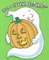 "Greeting Halloween Card ""Hope a Special Godchild..."" - $1.50"