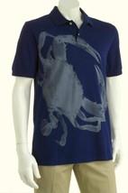 $50 Chaps Ralph Lauren Navy Rugby Polo Shirt-Nautical Blue Dungeness Cra... - $19.97