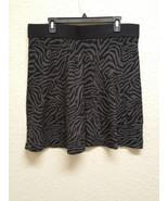 Alfani Petite Animal Print A-Line Skirt 6745 Black / Grey PL - $26.60