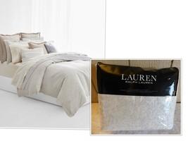 Lauren Ralph Lauren Alene Metallic Jacq. Full/Queen Duvet Cover Set Crea... - $103.95