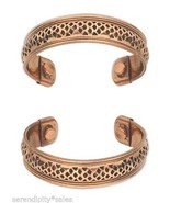 "3 each Solid Copper Magnetic Cuff Bracelet w/ ""Therapy"" Magnets ~ Wide b... - £17.20 GBP"