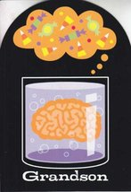 "Greeting Halloween Card ""Grandson"" I Really Like the Way Your Mind Works - $1.50"