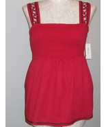 Style & Co Bright Red Smock Sleeveless Top Size 10 - $22.00