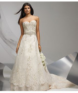 Coco Anais Strapless Lace Wedding Gown - £1,195.14 GBP