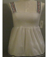 Style & Co  White Embroidered Smock Size 16 - $22.00