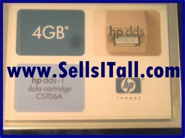 Brand New Hp C5706 A Dds 14 Gb Data Tape (Factory Sealed)  - $6.95