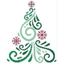Art Deco Tree 4 christmas cross stitch chart Cross Stitch Wonders - $5.00