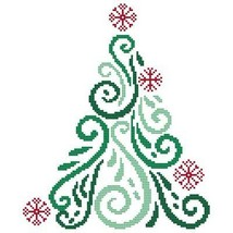 Art Deco Tree 5 christmas cross stitch chart Cross Stitch Wonders - $5.00