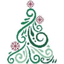 Art Deco Tree 9 christmas cross stitch chart Cross Stitch Wonders - $5.00