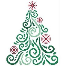 Art Deco Tree 10 christmas cross stitch chart Cross Stitch Wonders - $5.00