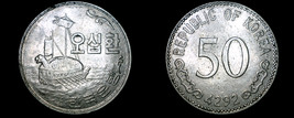 1959 (4292) South Korean 50 Hwan World Coin - South Korea - $14.99